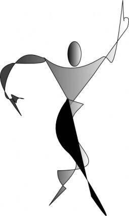 Expressionist Male Silouhette clip art