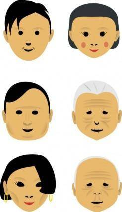 free vector Human Faces clip art