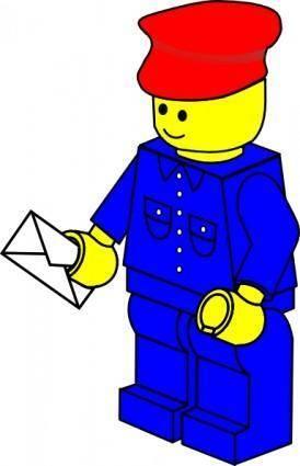 Lego Town Postman clip art
