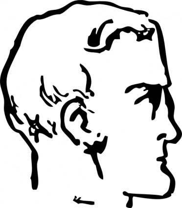 Man Chin Head clip art
