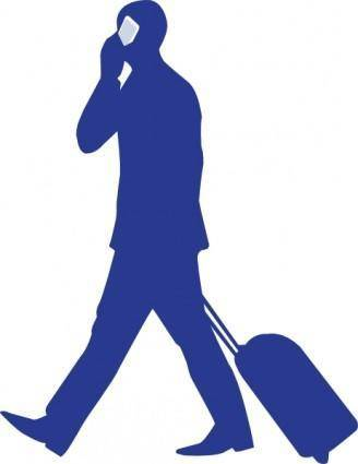 Businessman On Phone clip art