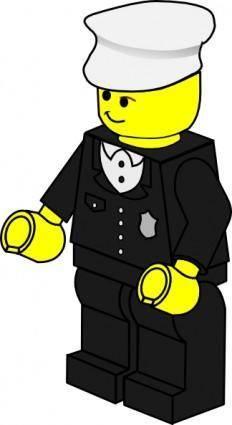 Lego Town Policeman clip art
