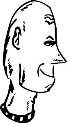 Hairless Head clip art