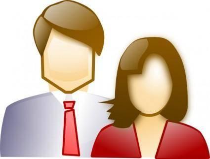 free vector Couple  clip art