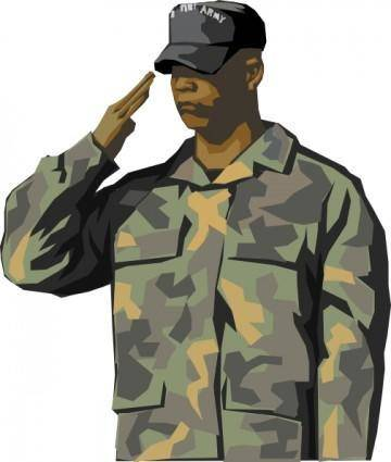 free vector Army Veteran clip art
