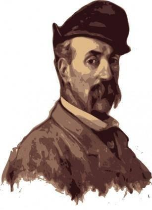 Portrait Of A Man clip art