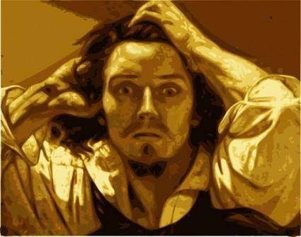 Courbet Painting clip art