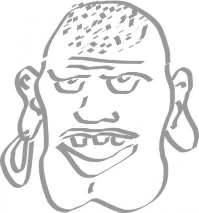 free vector Speaking Pirate Man clip art