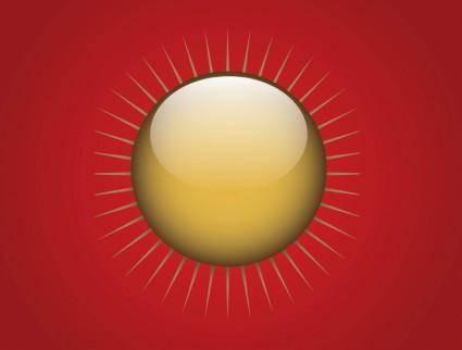 free vector Gold Sun Button