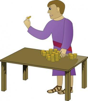 free vector Richdad Rich Young Man Counting clip art