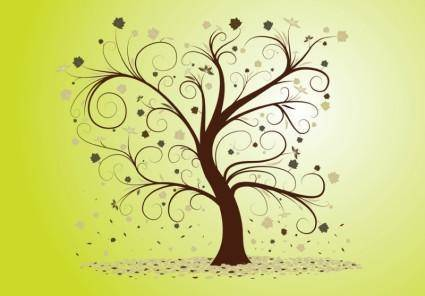 free vector Curly Tree