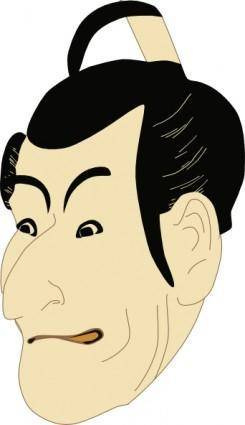 free vector Kabuki Actor clip art