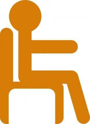 free vector Person In Chair clip art