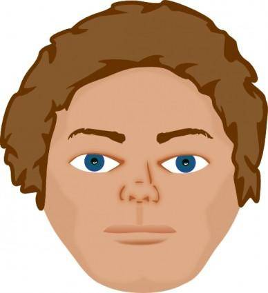 free vector Young Man Face clip art