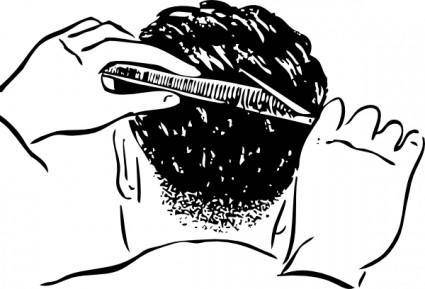 Shears And Comb clip art