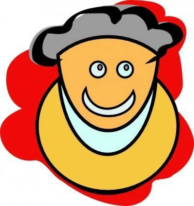 free vector Smiling Man clip art