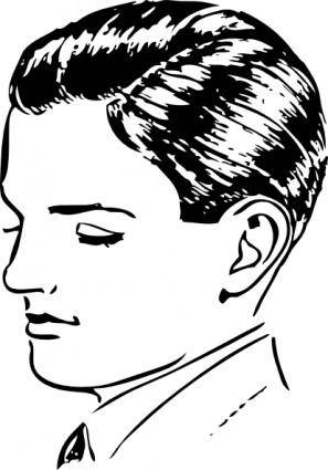 Boys Side Part clip art
