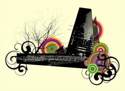 free vector Urban Composition