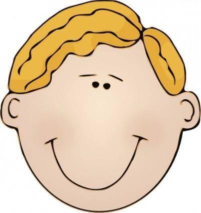 free vector Smiling Man Face clip art