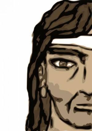 Barbarian Half Head clip art