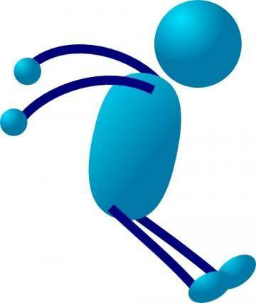 Stick Man Stopping clip art