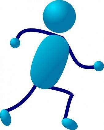Stick Man Running clip art