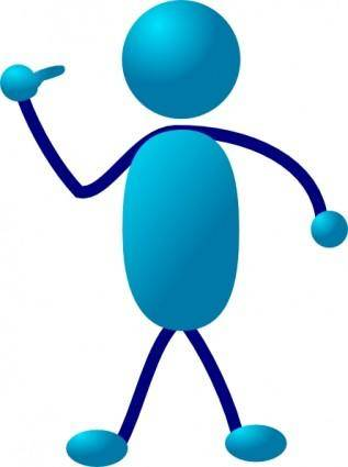 Stick Man Come Here clip art