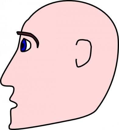 free vector Man Head Side Bald clip art