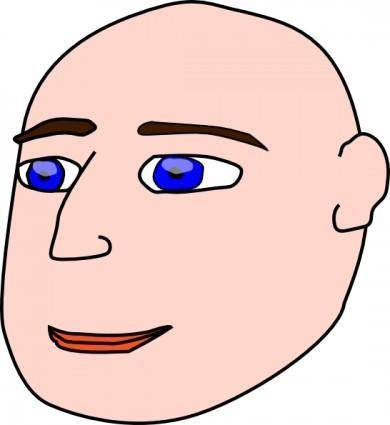 Head Man Bald clip art