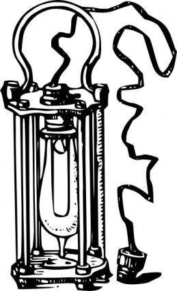 Antique Electric Lamp clip art