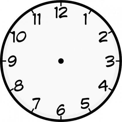 Purzen Clock Face clip art