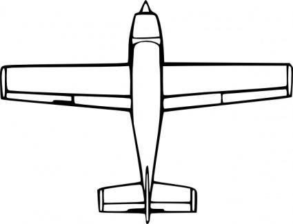 free vector Wirelizard Top Down Airplane View clip art