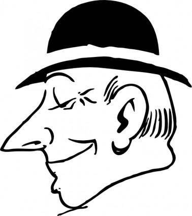 Man With Hat clip art