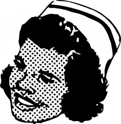 free vector Nurse Head clip art