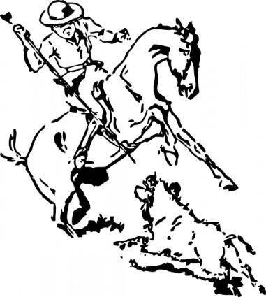 free vector Pig Hunting clip art