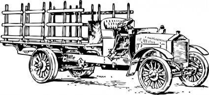 Old Heavy Truck clip art
