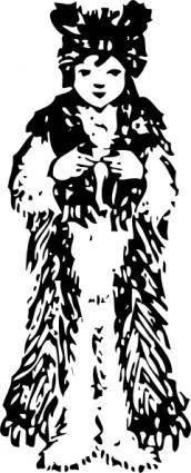 free vector Clothing Bear Costume clip art