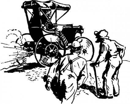 An Early Gas Buggy clip art