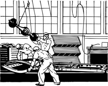 Manufacturing Line Workers clip art