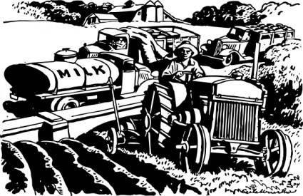 The Automobile Serves The Farm clip art 104352