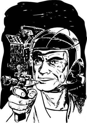 free vector Space Pioneers clip art