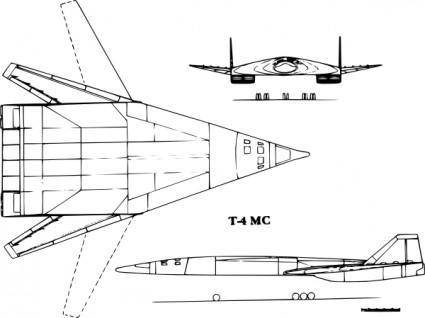 T Ms Supersonic Bomber clip art