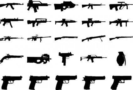 free vector Clue Guns Pack clip art