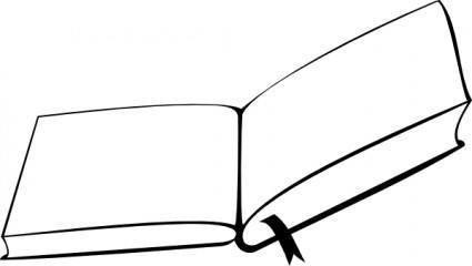 Mgsloan Open Book From Above clip art