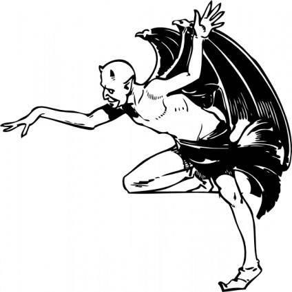 free vector Devil Posing clip art