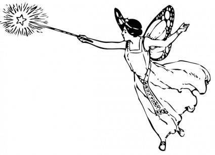 free vector Fairy With Wand clip art