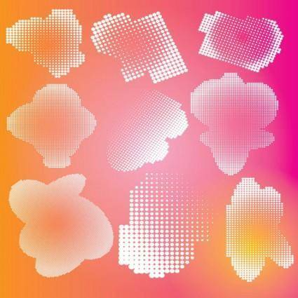 free vector Halftone Effects