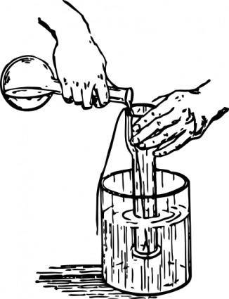 Liquid Experiment clip art