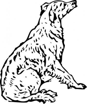 free vector Tom Waiting Dog Lineart clip art
