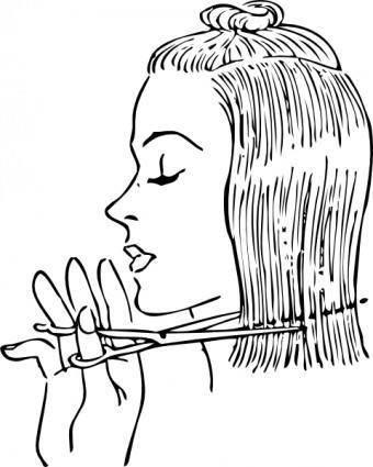 free vector Fashion Cutting Women's Hair clip art